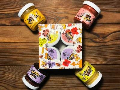 """Подарочный набор """"Мед с ягодами и фруктами"""""""